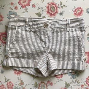 Express Tan & Cream Seersucker Shorts, Size 2
